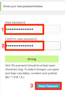 Wordpress forgot password